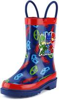 Disney Little Boys' PJ Masks Character Printed Waterproof Easy-On Rubber Rain Boots (Toddler/Little Kids)