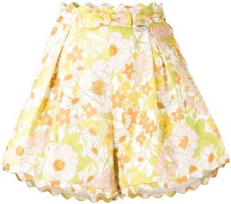 Zimmermann Pink Meadow shorts