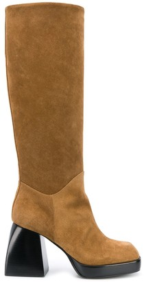 Nodaleto 95mm Knee Length Chunky Heel Boots
