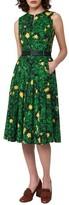 Akris Women's Floral Print Pleated Cotton Dress