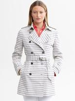 Banana Republic Striped trench