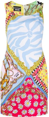 Boutique Moschino Foulard Mix Print Dress