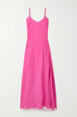 Miguelina Charlene Linen Maxi Dress - Fuchsia