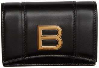 Balenciaga Black Mini Hourglass Wallet