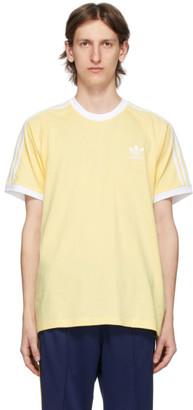 adidas Yellow 3-Stripes T-Shirt