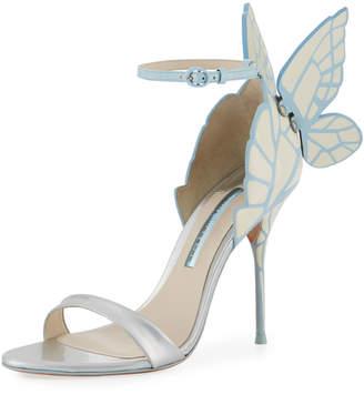 Sophia Webster Chiara Butterfly Wing Bridal Sandals, Ice