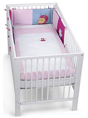 Sterntaler Cot Bedding Set, Pillow, Coverlet and Bumper, Katharina The Beetle, Age: for Babies from Birth Upwards, Pink/Red