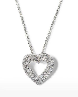 Roberto Coin Double-Row Diamond Heart Pendant Necklace