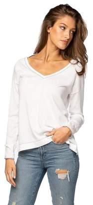 Subtle Luxury Julia Contrast V-Neck Pullover