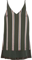 ADAM by Adam Lippes Striped Satin Top - Army green