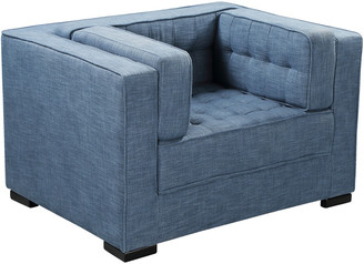 Chic Home Lorenzo Indigo Linen Textured Club Chair