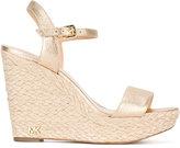 MICHAEL Michael Kors metallic wedge sandals - women - Leather - 7
