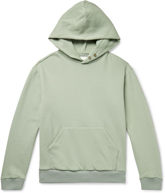 Fear Of God For Ermenegildo Zegna Slim-Fit Logo-Print Wool-Trimmed Fleece-Back Cotton And Cashmere-Blend Hoodie