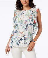 Tommy Hilfiger Printed Ruffled Top