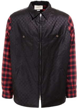 Gucci Checked Sleeve Jacket