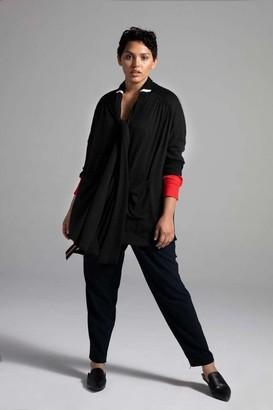 Shegul Esse Heavy Jersey Cardigan Sweater in Black