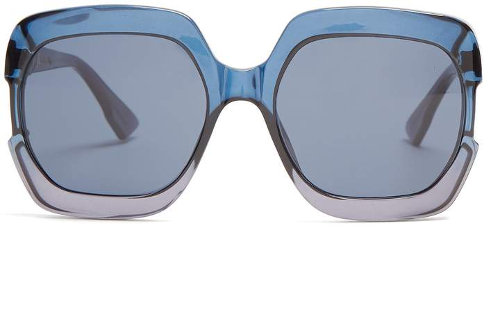 Christian Dior Gaia square-frame acetate sunglasses