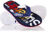 Superdry Scuba Logo Faded Flip Flops