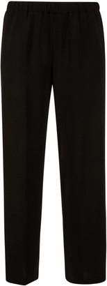 Aspesi Ribbed Waist Plain Trousers