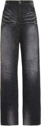 Balenciaga Trompe L'Oeil Viscose-Satin Baggy Pants