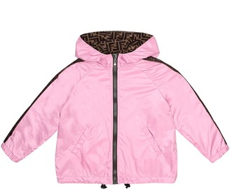 Fendi Kids Reversible hooded jacket