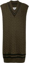Maison Margiela oversized knitted vest - women - Cotton/Wool - XS