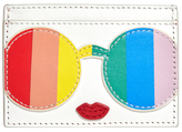 Alice + Olivia Rainbow Print Staceface Card Case