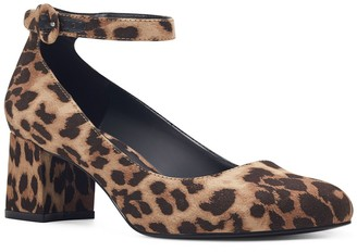 Bandolino Odear Leopard Print Ankle Strap Pump