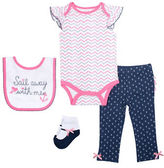Chick Pea Four-Piece Deluxe Nautical Bodysuit Set