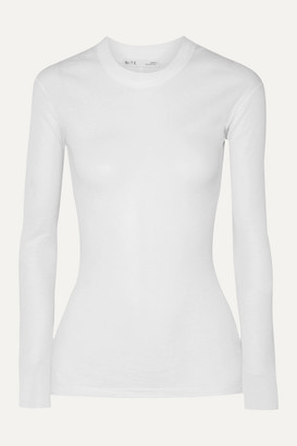 Bite Studios BITE Studios - Ribbed Organic Cotton-jersey Top - White