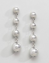 Asos Metal Ball Drop Earrings