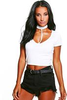 Boohoo Jess Choker Crop Top