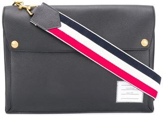 Thom Browne fold-over top messenger bag