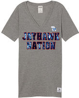 Victoria's Secret Victorias Secret University Of Kansas Perfect V-Neck Tee