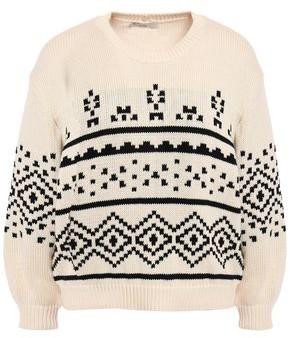 Joie Talena Fair Isle Cotton Sweater