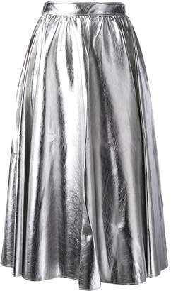 MSGM A-line midi skirt