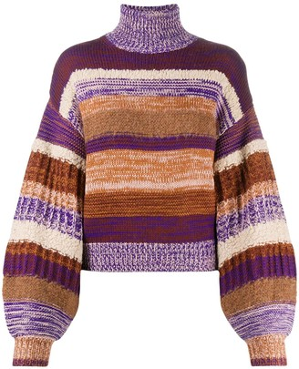 Ulla Johnson Stripe Print Wool Jumper