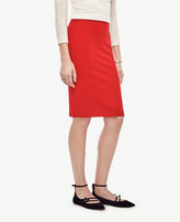 Ann Taylor Petite Seamed Crepe Pencil Skirt