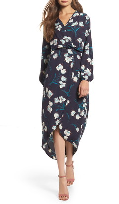 Fraiche by J High/Low Wrap Maxi Dress