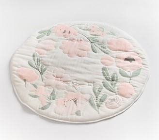Pottery Barn Kids Meredith Floral Muslin Travel Play Mat