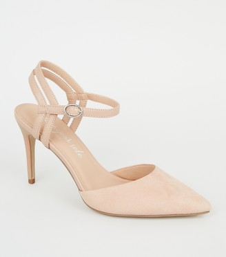 New Look Suedette Strappy Pointed Court Shoes