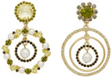 Erdem Yellow Asymmetric Earrings