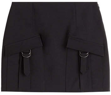 Anthony Vaccarello Wool Mini-Skirt with Cargo Pockets