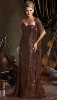 Mon Cheri Ivonne D by Mon Cheri - 212D81 Long Dress In Cocoa Copper