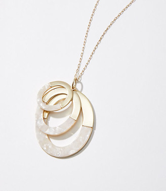 LOFT Oval Resin Pendant Necklace