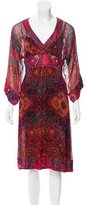 Diane von Furstenberg Long Sleeve Abstract Print Dress