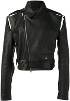 Y / Project - cropped biker jacket - men - Horse Leather - S