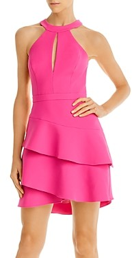 BCBGMAXAZRIA Tiered Crepe Cocktail Dress