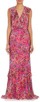 Saloni Women's Rita Floral Silk Maxi Dress