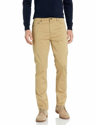 Buttoned Down Amazon Brand Men's Straight-Fit 5-Pocket Easy Care Stretch Twill Chino Pant